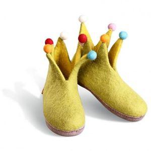 Håndfiltede Jester filtstøvler fra Betterfelt - Æblegrøn