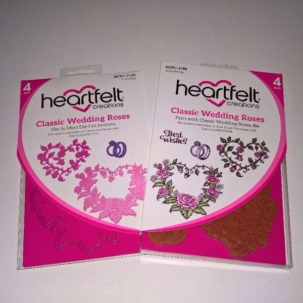 Classic Wedding Roses -  dies og stempelsæt fra Heartfelt Creations - HCPC-3788 og HCD1-7142