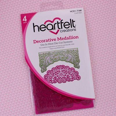 Decorative Medallion dies / standsejern fra Heartfelt Creations HCD1-7144