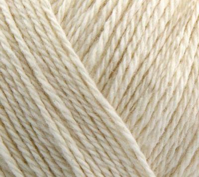 Blødt blandingsgarn af Uld og Bomuld - Esther by Permin - Natur Hvid 883426