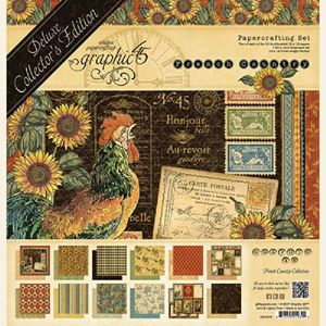 Papir blok 12x12 mm fra Graphic 45 - French Country - Deluxe Collector's Edition