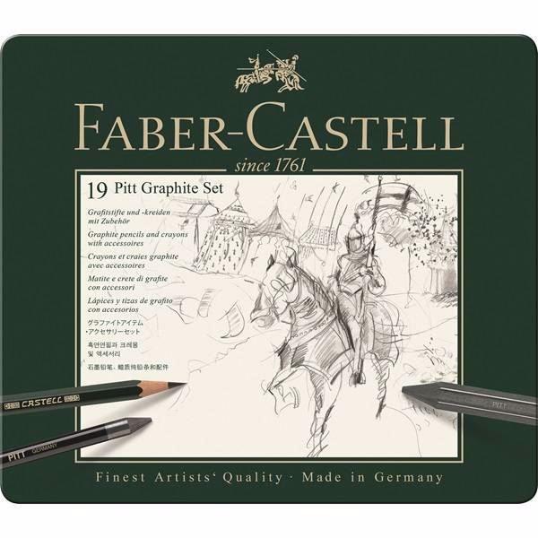 Faber-Castell 19 Pitt Graphite Set til tegning og sketching