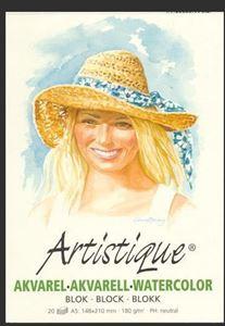 Artistique Akvarel papir blok A5