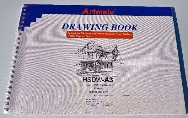 Drawing book A3 fra Artmate