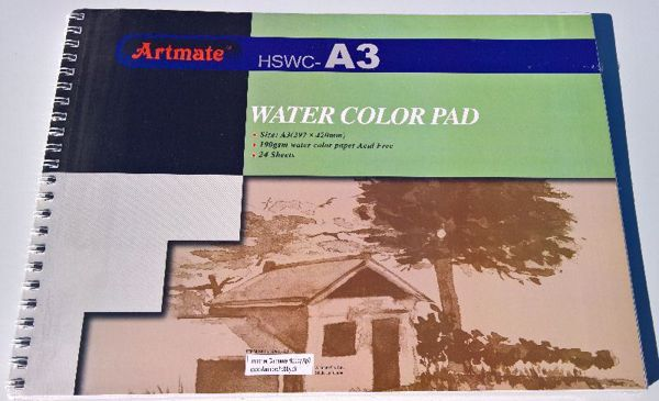 Water Color Pad A3 fra Artmate