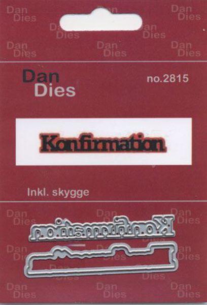 Tekst dies - Konfirmation - 2 stk. dies standsejern