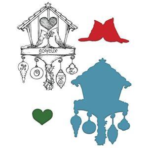 Cardinal Haven - Dies og Stempelsæt fra Heartfelt Creations - HCSD1-2019