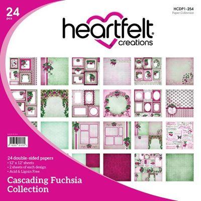 Cascading Fuchsia Collection fra Heartfelt Creations - HCDP1-254