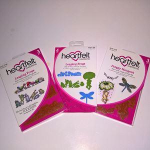 Froggy Hangout og Leaping Frogs dies og stempelsæt fra Heartfelt Creations - HCPC-3729, HCPC-3730 og HCD1-792