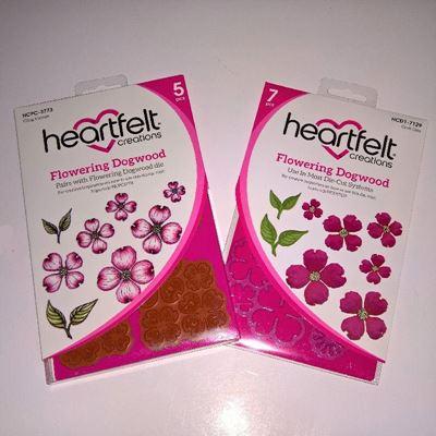 Flowering Dogwood - Blomsterkornel -  dies og stempelsæt fra Heartfelt Creations - HCPC-3773 og HCD1-7129