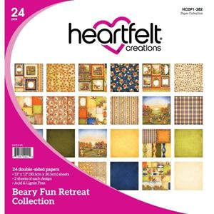 Beary Fun Retreat Collection - Designblok fra Heartfelt Creations - HCDP1-282