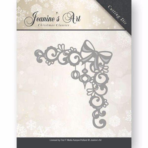 Jeanine's Art Christmas Classics - Jule hjørne JAD10009 - dies standsejern og embossing til scrapbooking og kort