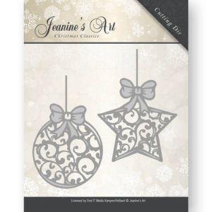 Jeanine's Art Christmas Classics - Jule kugler JAD10010 - dies standsejern og embossing til scrapbooking og kort