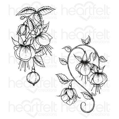 Fuchsia Clusters Stempel fra Heartfelt Creations HCPC-3671