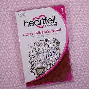 Coffee Talk Background Stempel fra Heartfelt Creations HCPC-3713