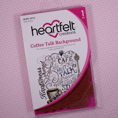 Coffee Talk Background Stempel fra Heartfelt Creations HCPC-3713