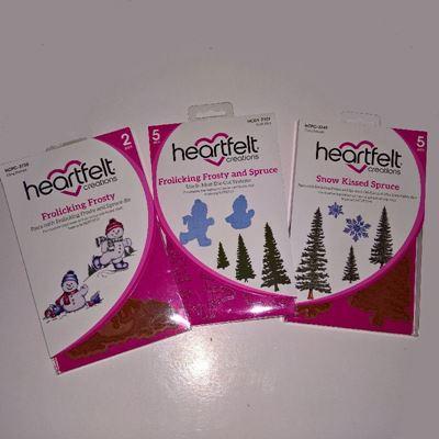 Frolicking Frosty and Spruce - Dies og Stempelsæt fra Heartfelt Creations - HCPC-3750, HCD1-7107 og HCPC-3749