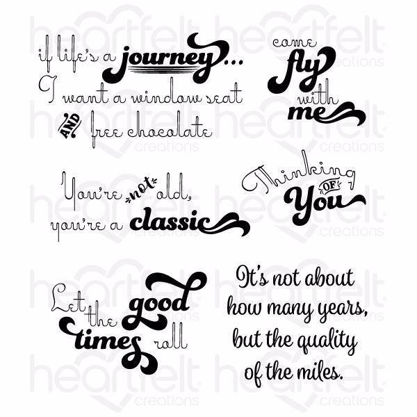 Good Times Sentiments -  stempelsæt fra Heartfelt Creations - HCPC-3802