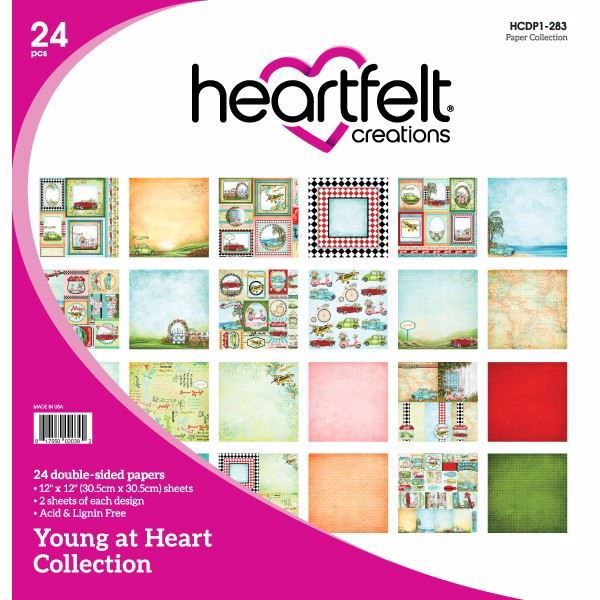 Young At Heart Collection - Designblok fra Heartfelt Creations - HCDP1-283