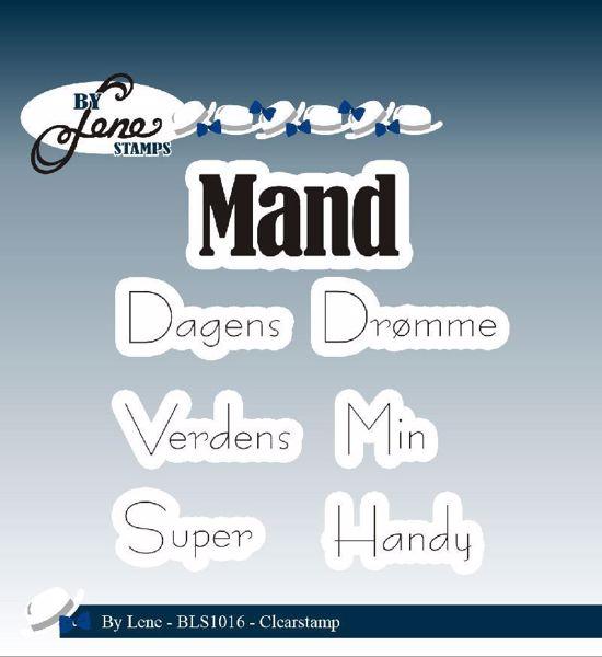 By Lene Stempler - Mand - BLS1016 - Silikone Stempel til scrapbooking og kort