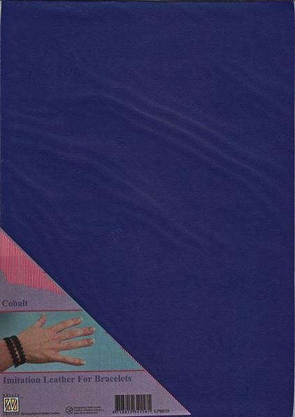 Imiteret læder fra Nellie Snellen - Blå