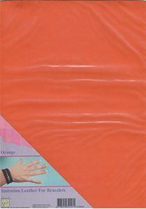 Imiteret læder fra Nellie Snellen - Orange