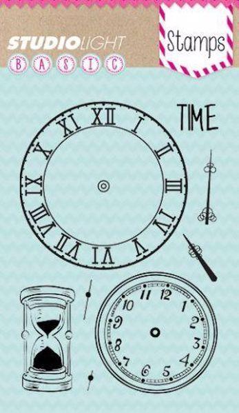 Urskiver og Timeglas - Time - silikone stempel fra Studio Light