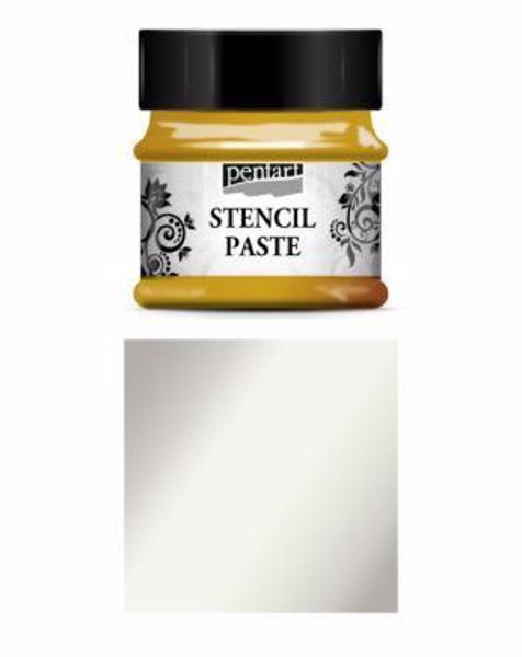 Stencil Paste - 50 ml - fra Pentart - Metal Silver