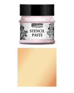 Stencil Paste - 50 ml - fra Pentart - Pearl Apricot