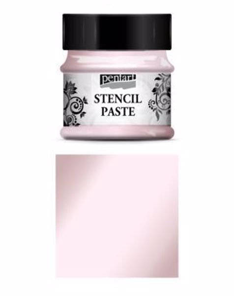 Stencil Paste - 50 ml - fra Pentart - Pearl Candy-floss