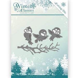 Jeanine's Art Winter Classics - Vinter fugle JAD10027 - dies standsejern og embossing til scrapbooking og kort