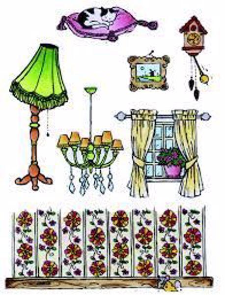 Silikone stempler - Don & Daisy, Daglig stue fra Marianne Design - DDS3343