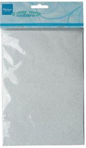 Hvidt glimmer karton til scrapbooking og kort fra Marianne Design - CA3104
