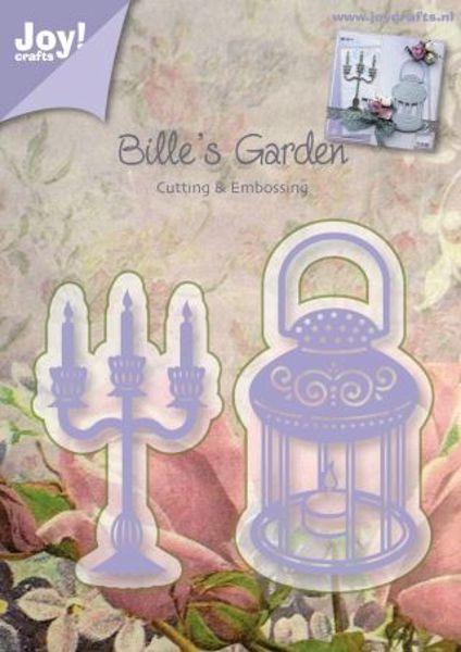 Joy Crafts - Kandelaber og lygte - Bille´s Garden - 6002/0377 dies standsejern til scrapbooking og kort
