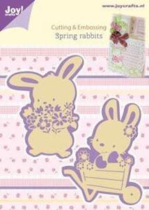 Joy Crafts - Påske harer - Spring Rabbits - 6002/0436 dies standsejern til scrapbooking og kort
