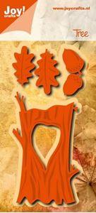 Egestamme, egeblade og agern - die 6002/0966 fra Joy Crafts til scrapbooking og kort