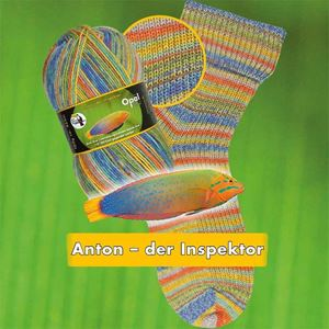 Opal Regenwald XI slidstærkt strømpegarn 9013 - Anton der Inspektor