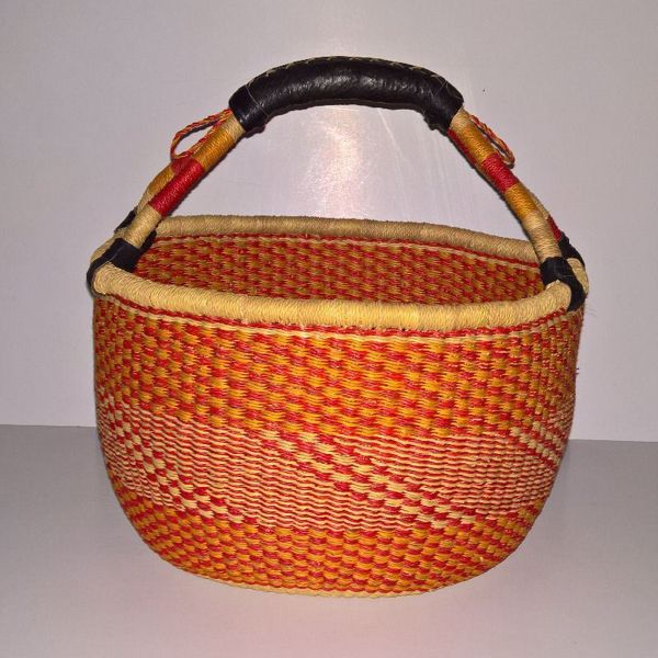 Hammershus Fairtrade Bolga kurv - Stor Orange