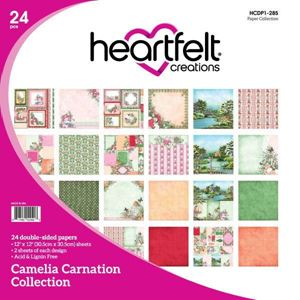 Camelia Carnation Collection - Designblok fra Heartfelt Creations - HCDP1-285