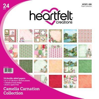 Camelia Carnation Collection - Designblok fra Heartfelt Creations - HCDP1-285