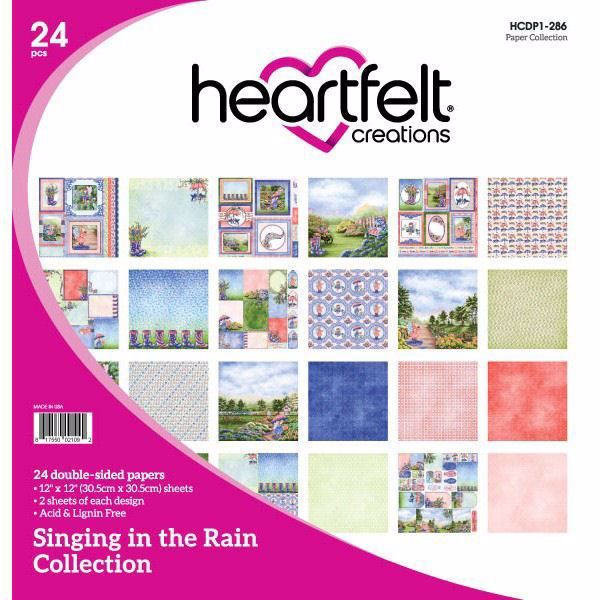 Singing in the Rain Collection - Designblok fra Heartfelt Creations - HCDP1-286