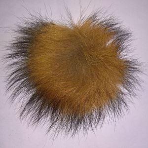 Pels Pompon af ræv til pynt på huer, tasker og sko mm - Natur Ræv