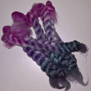 Håndmaede Falkland sokke blanding tops til spinding af syntetfri strømpegarn