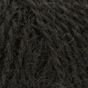 Mohair + Wool, lækkert pelset strikkegarn fra ONION - 302 Sort