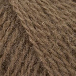 Mohair + Wool, lækkert pelset strikkegarn fra ONION - 305 Mørk Kamel