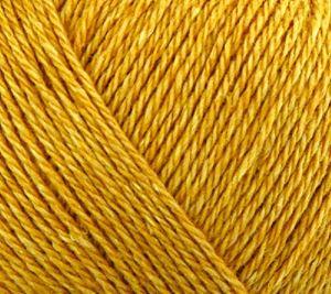 Blødt blandingsgarn af Uld og Bomuld - Esther by Permin - Mørk Gul 883403