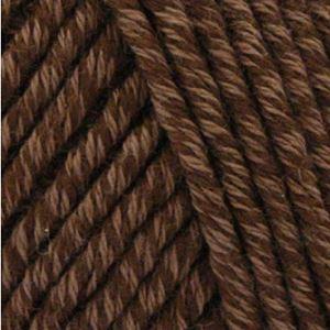 Organic Cotton + Merino Wool strikkegarn fra ONION - 707 Chokolade
