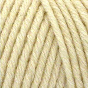 Organic Cotton + Merino Wool strikkegarn fra ONION - 701 Natur Hvid