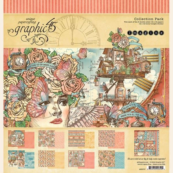 Papir kollektion 12x12 fra Graphic 45 - Imagine