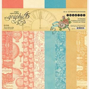 Papir blok 12x12 Patterns & Solids fra Graphic 45 - Imagine